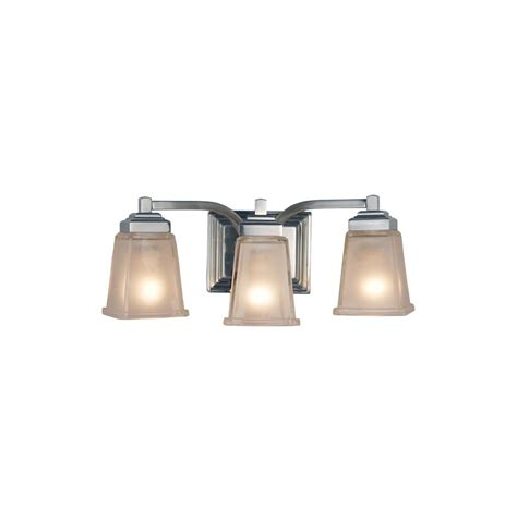 Allen And Roth Bathroom Vanity Lights by Shop Allen Roth 3 Light Elloree Brushed Nickel Bathroom