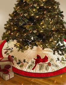 holiday songbirds christmas tree skirt from cottage style living