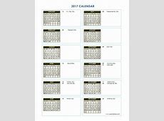 2017 Yearly Calendar Template Vertical 03 Free Printable