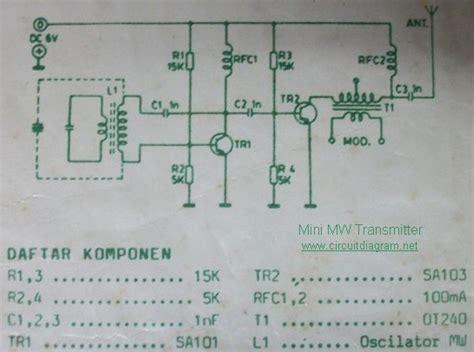 mini mw transmitter circuit schematic