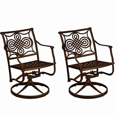 Chairs Swivel Outdoor Patio Metal Rocking Aluminum