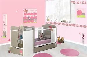 davausnet chambre petite fille rose et taupe avec des With chambre bébé design avec fleurs correspondance