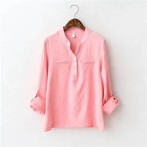 30 Beautiful Pink Blouse Women