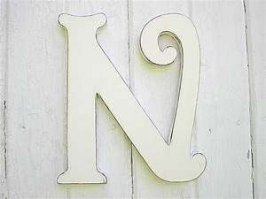 wooden letters decorative n 12 inch distressed white wall With 12 inch white wooden letters