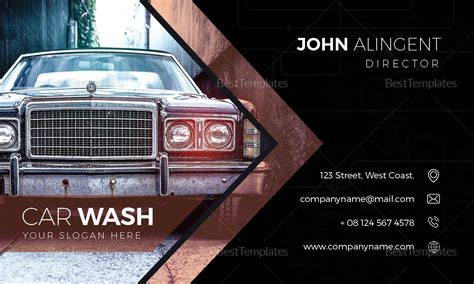 car wash business card design template  word psd publisher