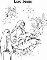 Jesus Coloring Birth Printable Worksheets Colouring Born Christ Clip Printables Santa Lord Pdf Popular Merry sketch template