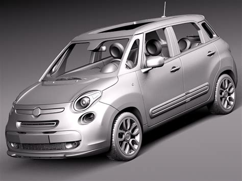 Fiat 500l Price Usa by Fiat 500l Usa Version 2013 3d Model Max Obj 3ds Fbx