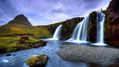 Waterfall Scenery Nature Gardens Butchart Wallpapers13 Desktop