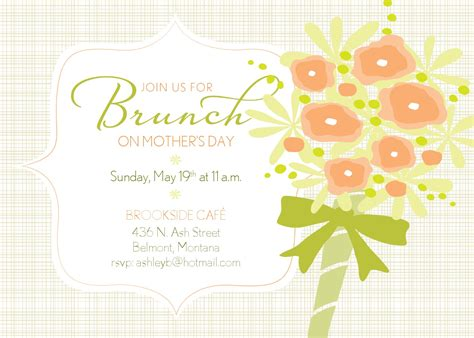 brunch invitation template brunch invitation clipart
