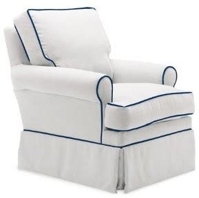 glider chair navy piping contemporary gliders