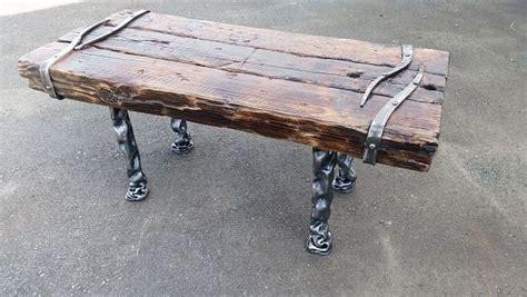 bench wood wrought iron bt wrought iron art