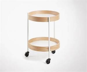 Desserte A Roulette : desserte design scandinave en bois et m tal table d 39 appoint design ~ Teatrodelosmanantiales.com Idées de Décoration