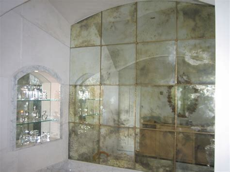 vintage 12x12 mirror tiles antiqued mirror glasshouse products restaurant