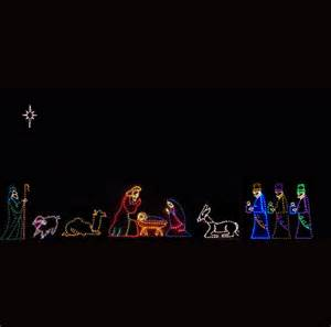led lighted nativity scene images