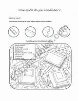 Objects Coloring Classroom Worksheet Worksheets Pages Esl Template Vocabulary sketch template