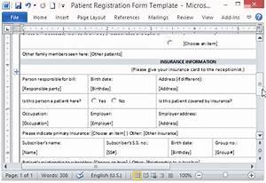 Medical Patient Registration Form Template   Short ...
