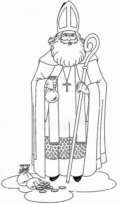 Coloring Nicholas St Christmas Pages Saint Winter