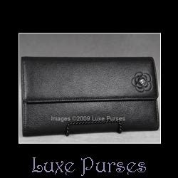 chanel black leather butterfly wallet luxe purses