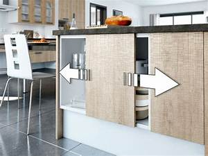 une cuisine mobile evolutive you With meuble de cuisine porte coulissante