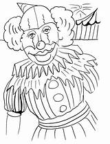 Clown Coloring Pages Printable Face Print Happy Sad Popular Template sketch template