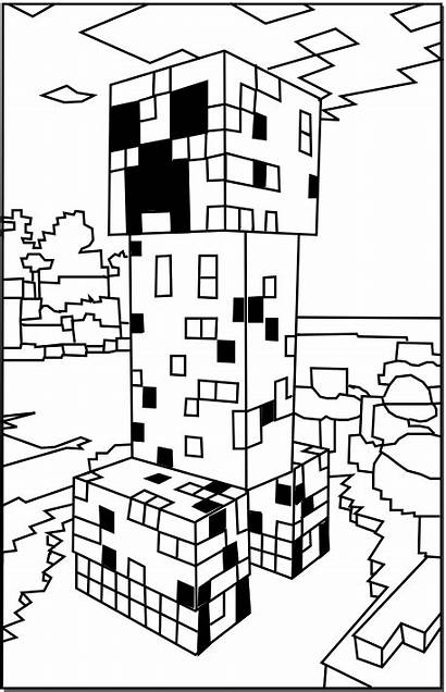 Minecraft Coloring Pages Creeper Printable