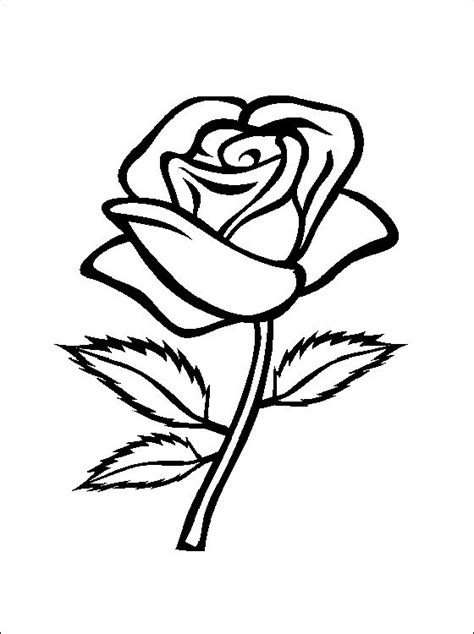 flower page printable coloring sheets rose coloring