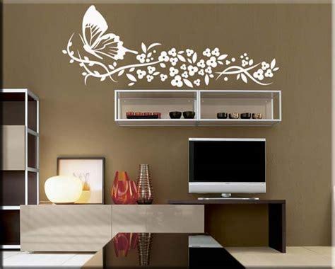 wall stickers fiori adesivi murali farfalla fiori