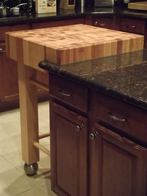granite butcher block table red wooden small butcher block island with trundle and
