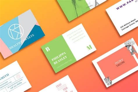 business card templates fully printable
