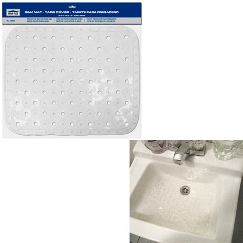 large kitchen sink protector mat clear vinyl gadget tools