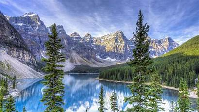 Hdr 4k Ultra Background Lake Moraine Wallpapersafari