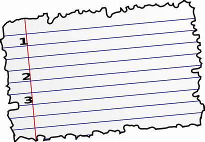 Paper Clipart Clip Torn Notebook Scrap Lines