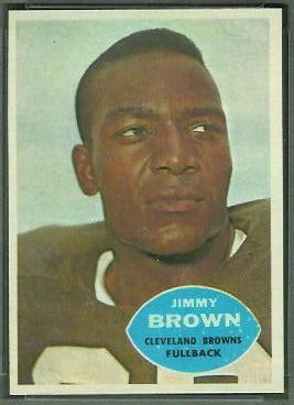 jim brown  topps  vintage football card gallery