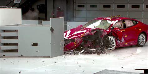 Tesla Model S Crash by Tesla Responds To Newly Released Model S Crash Test Rating