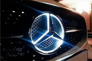 New White Led Light Illuminated Star Emblem Front Grille