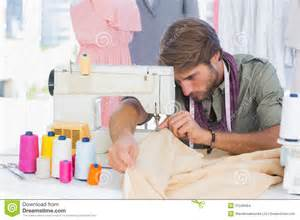 designer mode handsome fashion designer sewing stock images image 31549464