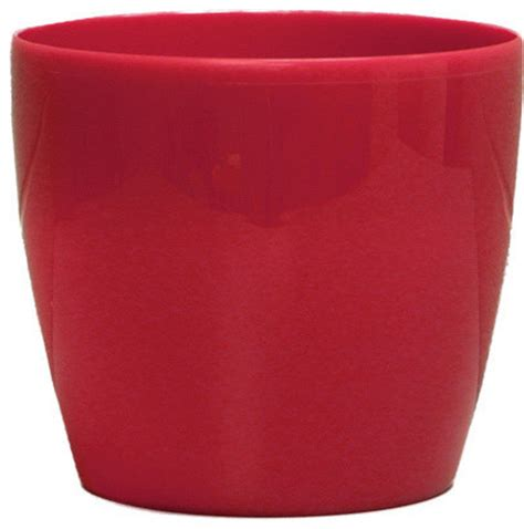 sangria red plastic planter stylish  contemporary