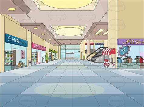 Mall Clipart Shopping Mall Background Clipart Vector