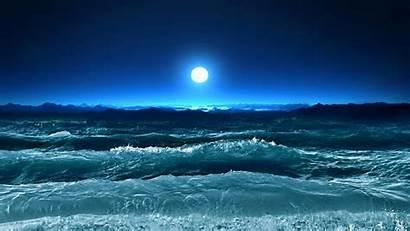 Ocean Waves Moon Screensavers Wallpapers Under Screen