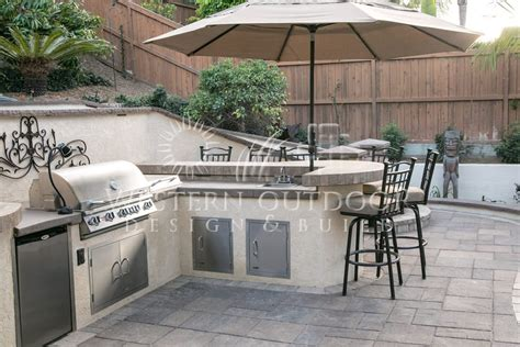 patio kitchen islands stucco finish bbq islands outdoor kitchens gallery western outdoor design and build serving san