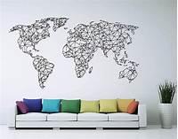 nice world map wall decals Polygonal / Geometrical world map Sticker Vinyl by ...