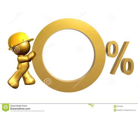 diritti di commercio tasso di interesse zero delle percentuali illustrazione di