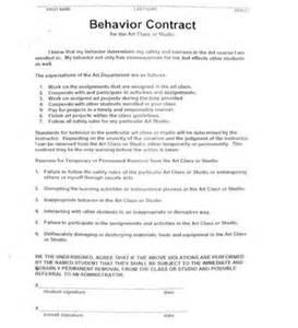 High School Student Behavior Contract