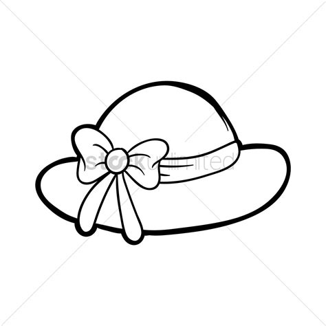 summer hat vector image  stockunlimited