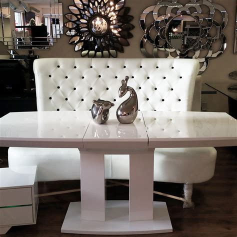 White Dining Table And Chairs For Sale by Contemporary White Chesterfield Sofa With Modern White