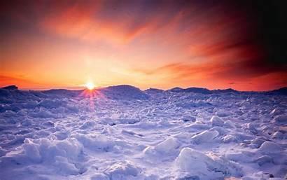 Snow Sunset Winter Ice Horizon Widescreen Laptop