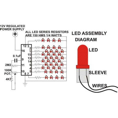 Serial Lighting Diagram by How To Build A Simple Circuit For Led Tree