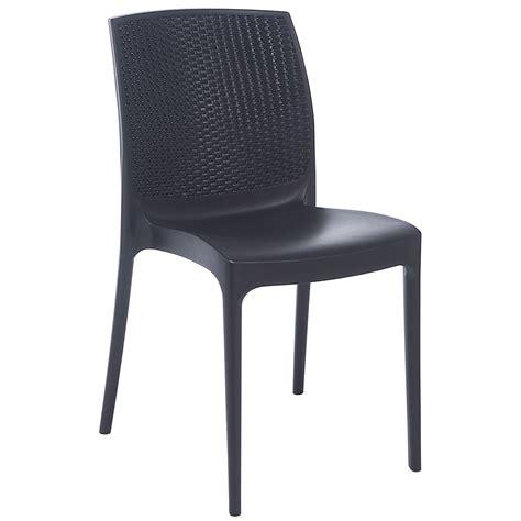chaise en résine tressée chaise de jardin en résine tressée bohême anthracite leroy merlin
