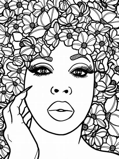 Coloring African Adult Printable Pdf Zentangle Relaxing
