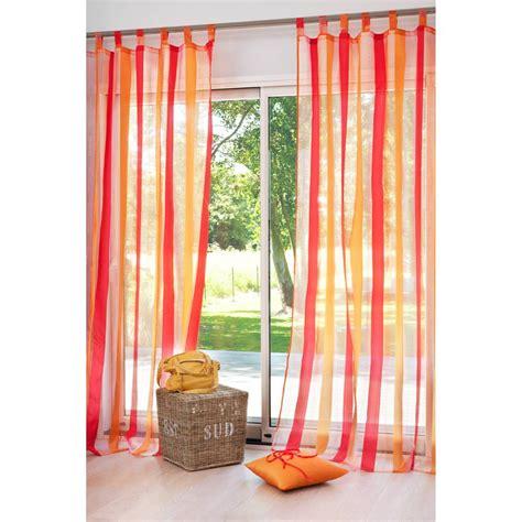 modele de chambre pour ado garcon rideau é à passants orange 145 x 250 cm maisons